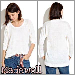 Madewell | White Linen Slouchweave Sweater SZ XS